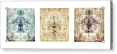 Prayer Flag Triptych Acrylic Print