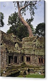 Preah Khantemple At Angkor Wat Acrylic Print by Sami Sarkis