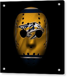 Predators Jersey Mask Acrylic Print by Joe Hamilton