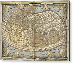 Ptolemy's World Map Acrylic Print by British Library