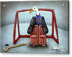 puck duck... by Will Bullas Acrylic Print by Will Bullas