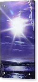 Ocean - ' Purple Aura ' Acrylic Print by Christian Chapman Art