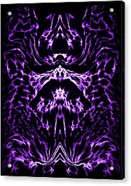 Purple Series 1 Acrylic Print by J D Owen