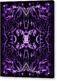 Purple Series 2 Acrylic Print by J D Owen