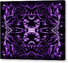 Purple Series 9 Acrylic Print by J D Owen