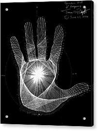 Quantum Hand Through My Eyes Acrylic Print