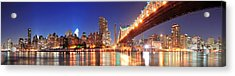 Queensboro Bridge And Manhattan Acrylic Print