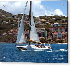 Racing At St. Thomas 1 Acrylic Print