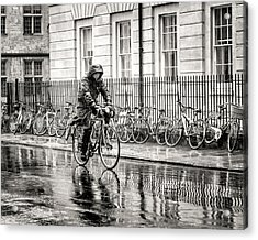 Rainy Day Ride Acrylic Print by William Beuther