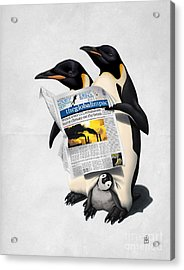 Acrylic Print featuring the drawing Read All Over Wordless by Rob Snow