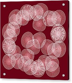 Red Abstract Circles Acrylic Print