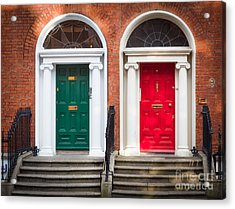 Red And Green Acrylic Print by Inge Johnsson