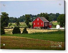Red Barn Gettysburg Acrylic Print