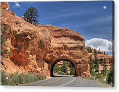 Red Canyon National Park Utah Road Tunnel  Acrylic Print