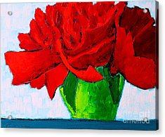 Red Carnation Acrylic Print by Ana Maria Edulescu