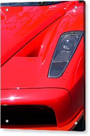 Acrylic Print featuring the photograph Red Ferrari by Jeff Lowe