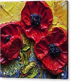 Red Poppies Acrylic Print by Paris Wyatt Llanso