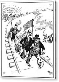 Red Scare Cartoon, 1919 Acrylic Print by Granger