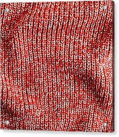 Red Wool Acrylic Print by Tom Gowanlock