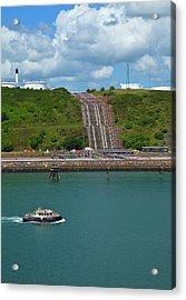 Refinary Pipeline In Milford Haven Acrylic Print
