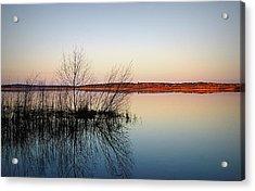 Reflections On Lake Jackson Tallahassee Acrylic Print by Paul  Wilford