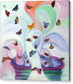 Releasing Butterflies Acrylic Print by Jeanette Sthamann