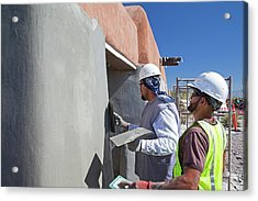 Repairing White Sands Visitor Centre Acrylic Print by Jim West