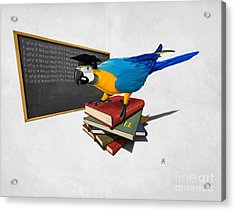 Acrylic Print featuring the drawing Repeat Wordless by Rob Snow