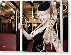 Ride The Pinup Express Acrylic Print