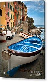Rio Maggiore Boat Acrylic Print by Inge Johnsson