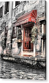 Ristorante On The Canal Acrylic Print