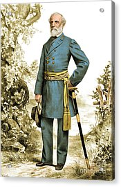 Robert E. Lee, Confederate Army Acrylic Print by Photo Researchers