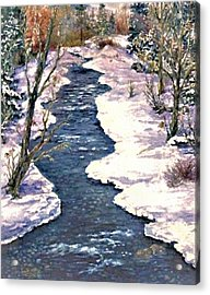 Rock Creek Winter Acrylic Print