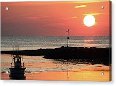 Rock Harbor Sunset Acrylic Print