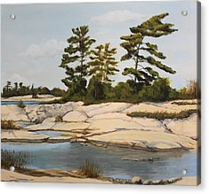 Rock Ponds. Lost Bay. Beausoleil Acrylic Print by Humphrey Carter