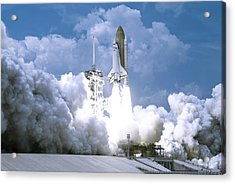Rocket Launch Acrylic Print by Celestial Images