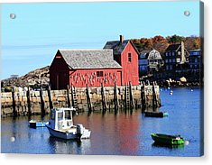 Rockport Motif Number 1 Acrylic Print by Lou Ford