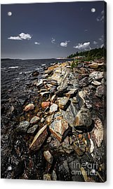 Rocky Shore Of Georgian Bay Acrylic Print