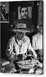 Rolling Cuban Cigars Acrylic Print by Hugh Smith