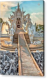 Rong Khun Temple Acrylic Print by Adrian Evans