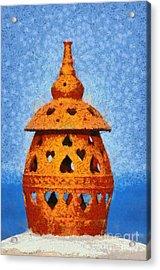 Roof Pottery In Sifnos Island Acrylic Print by George Atsametakis