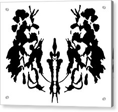 Rorschach Inkblot Acrylic Print