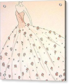 Rose Ball Gown   Acrylic Print by Christine Corretti