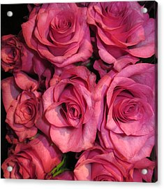 Rosebouquet In Pink Acrylic Print