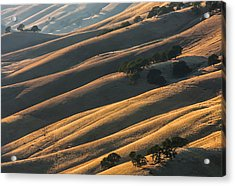 Round Valley Ridges Acrylic Print by Marc Crumpler