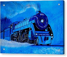 Royal Blue Express Acrylic Print by Pjohn Artman