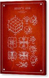 Rubiks Cube Patent Acrylic Print