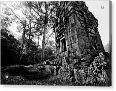 Ruin At Angkor Wat Acrylic Print by Julian Cook