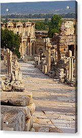 Acrylic Print featuring the photograph Ruins Of Ephesus by Brian Jannsen