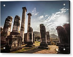 Ruins Of The Temple Of Artemis  Sardis Acrylic Print by Reynold Mainse